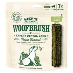 Packet of seven Lily's Kitchen Woofbrush Dental Chews For Dogs