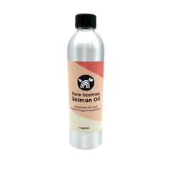 Bottle of Natural Cornish Pet salmon oil for dogs