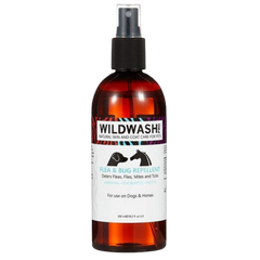 Spray bottle of Wildwash Flea and bug repellent for dogs and horses
