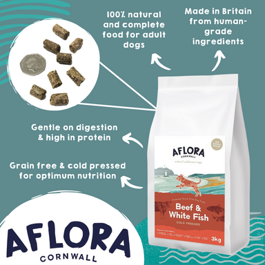 Aflora Cold Pressed - Beef & Whitefish - Grain Free Dry Dog Food Dog Food - Dry Aflora