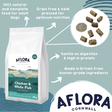 Aflora Cold Pressed - Chicken & Whitefish - Grain Free Dry Dog Food Dog Food - Dry Aflora
