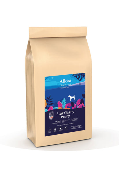 Aflora Star Gazey Puppy - Salmon With Haddock 15kg Dog Food - Dry Aflora