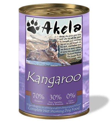 Akela Complete Wet Working Dog Food - Kangaroo Dog Food - Wet Akela