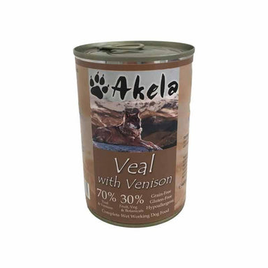 Akela Complete Wet Working Dog Food - Veal with Venison Dog Food - Wet Akela