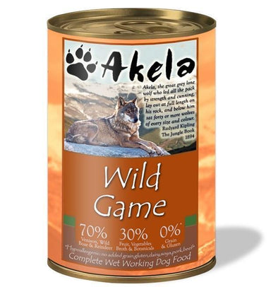 Akela Complete Wet Working Dog Food - Wild Game Dog Food - Wet Akela