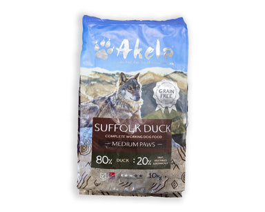 Akela Dog Food - Working Dog Suffolk Duck Dog Food - Dry Akela