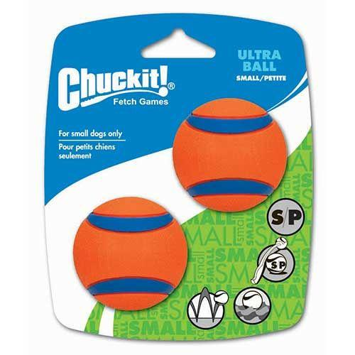 Chuckit Ultra Ball Small - 2 Pack Dog Toys Chuckit!