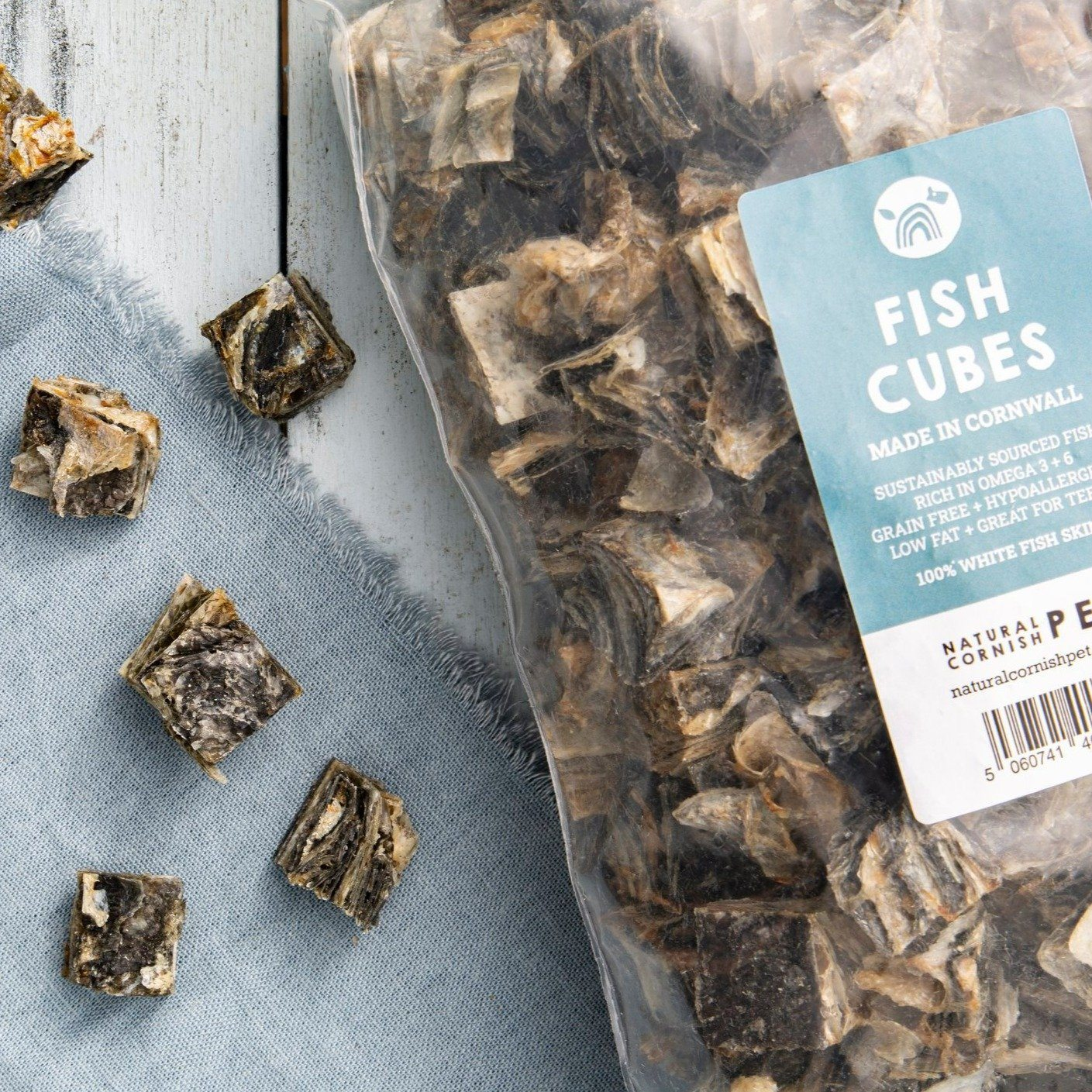 Cornish Fish Cubes Dog Treats Natural Cornish Pet