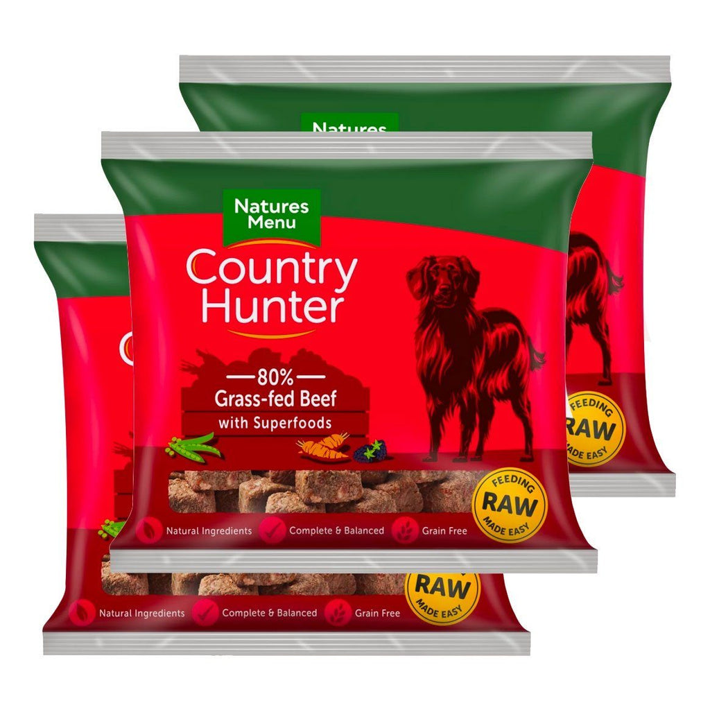 Country Hunter Beef Bundle x10 Dog Food - Frozen Natures Menu