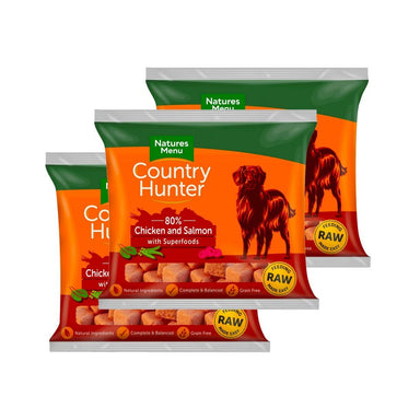 Country Hunter Chicken & Salmon Bundle x10 Dog Food - Frozen Natures Menu