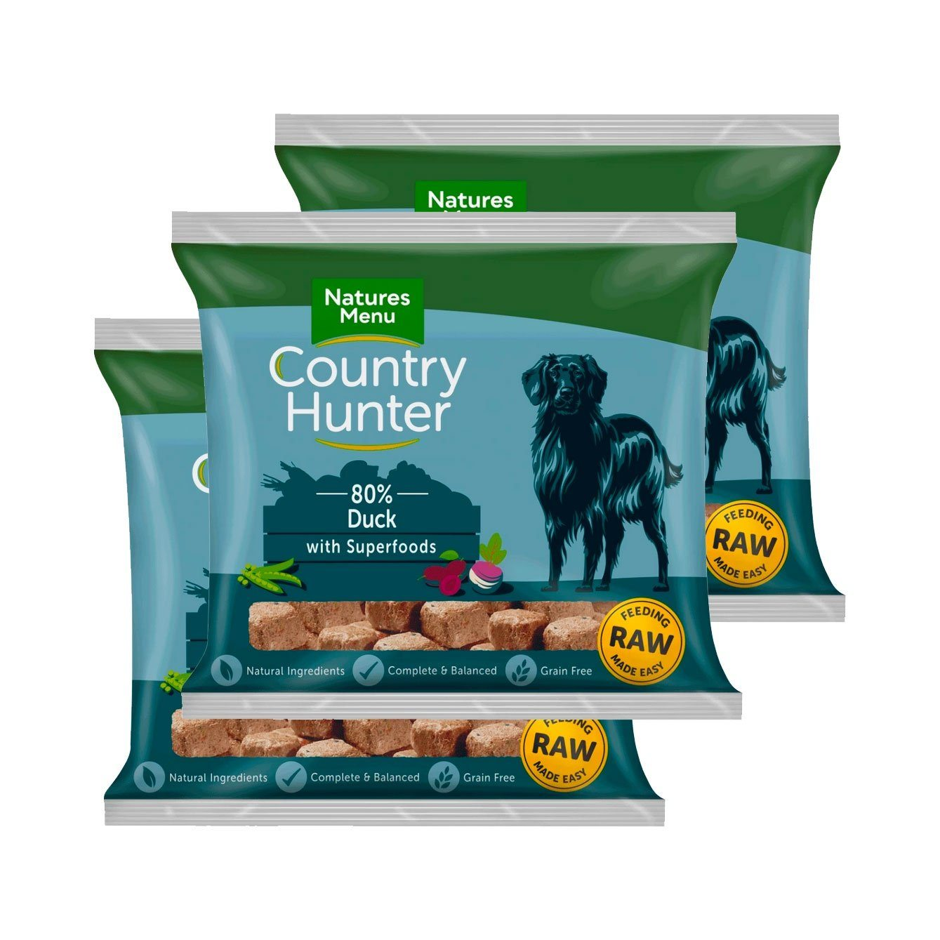 Country Hunter Duck Bundle x10 Dog Food - Frozen Natures Menu