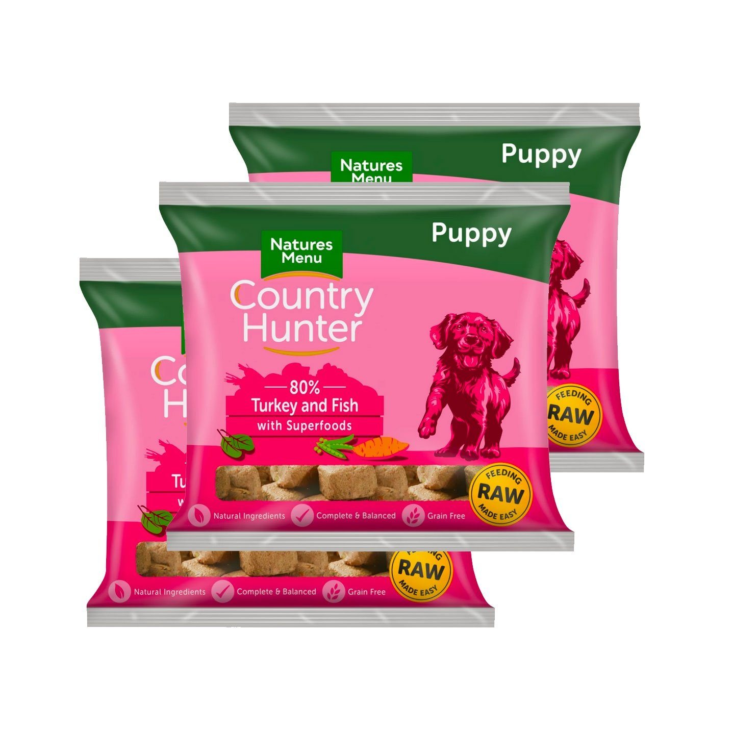 Country Hunter Puppy Bundle x10 Dog Food - Frozen Natures Menu