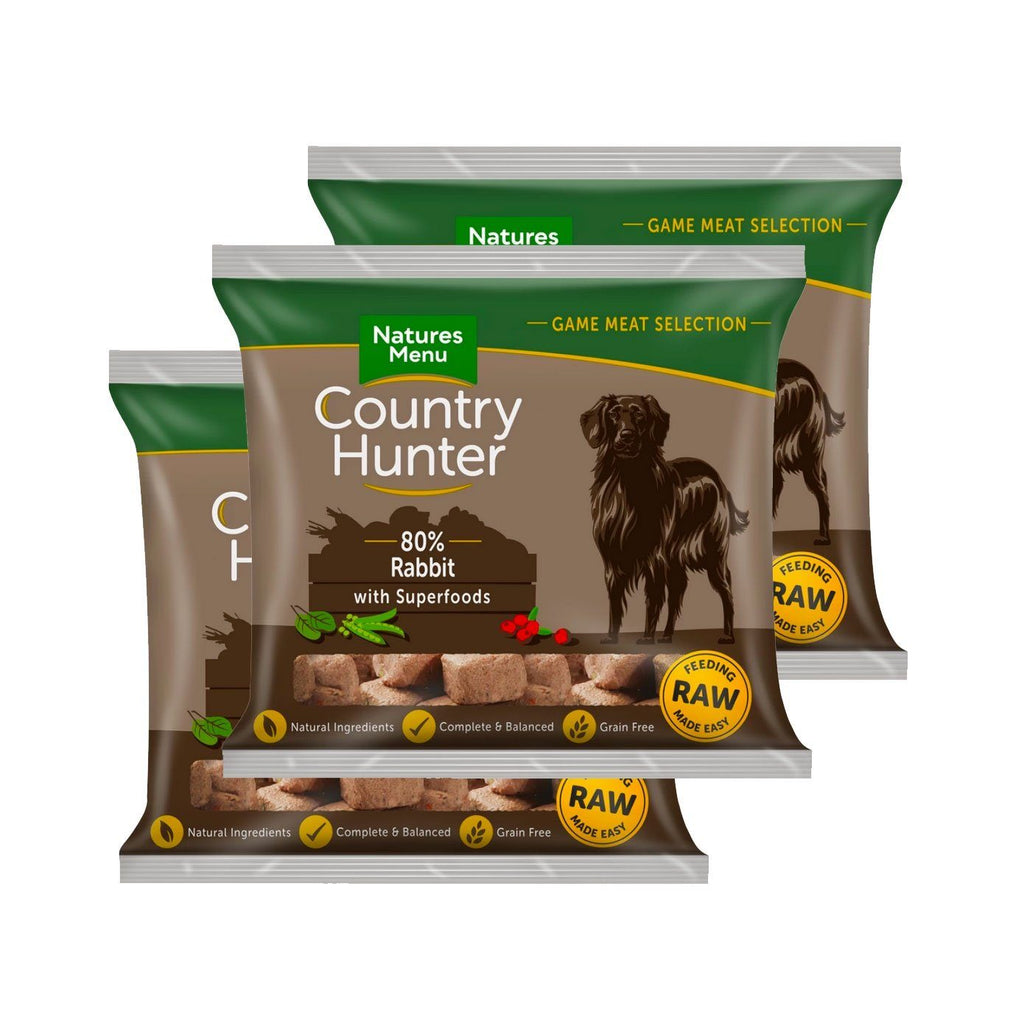 Country Hunter Rabbit Bundle x10 Dog Food - Frozen Natures Menu