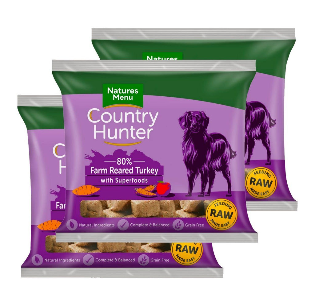 Country Hunter Turkey Bundle x10 Dog Food - Frozen Natures Menu
