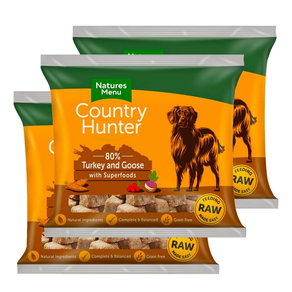 Country Hunter Turkey & Goose Bundle x10 Dog Food - Frozen Natures Menu