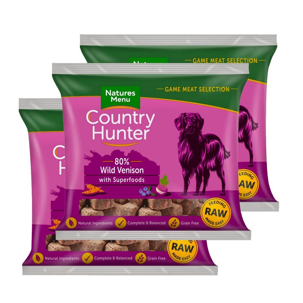 Country Hunter Venison Bundle x10 Dog Food - Frozen Natures Menu