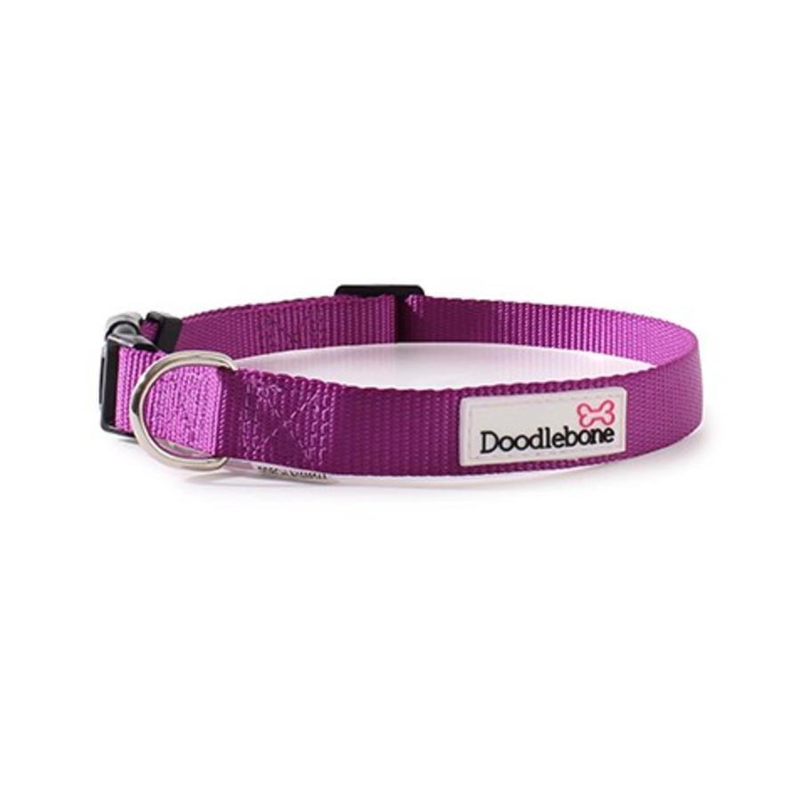 Doodlebone Bold Nylon Collar Purple Dog Collars and Leads Doodlebone