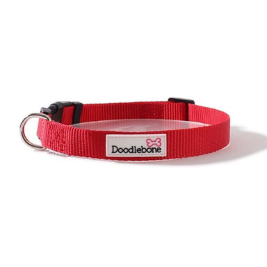 Doodlebone Bold Nylon Collar Red Dog Collars and Leads Doodlebone
