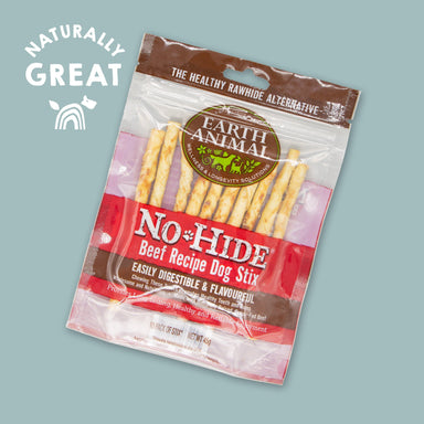 Earth Animal No-Hide Wholesome Beef Stix Dog Treats Earth Animal