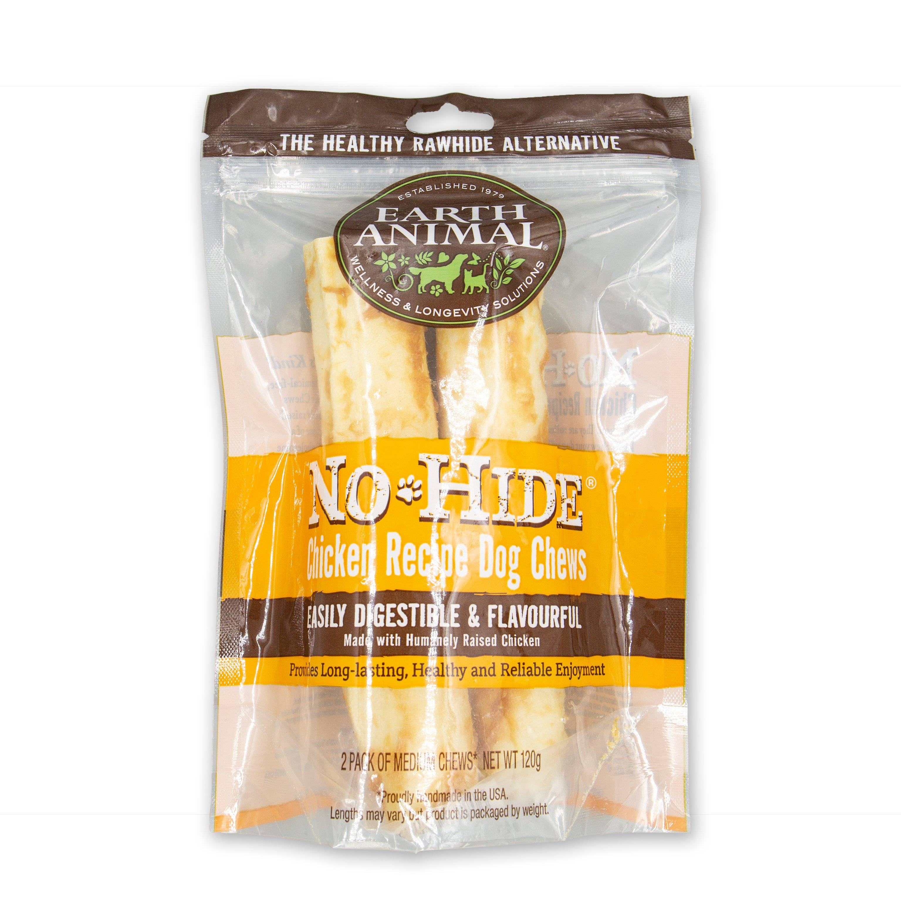Earth Animal No-Hide Wholesome Chicken Dog Chew - 2 Pack Dog Treats Earth Animal