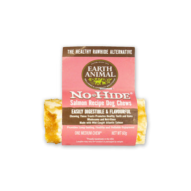 Earth Animal No-Hide Wholesome Salmon Chew - Small Dog Treats Earth Animal