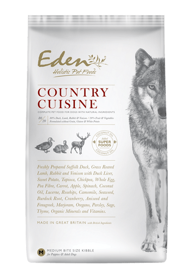 Eden 80/20 Country Cuisine Game With Lamb Dog Food - Dry Eden