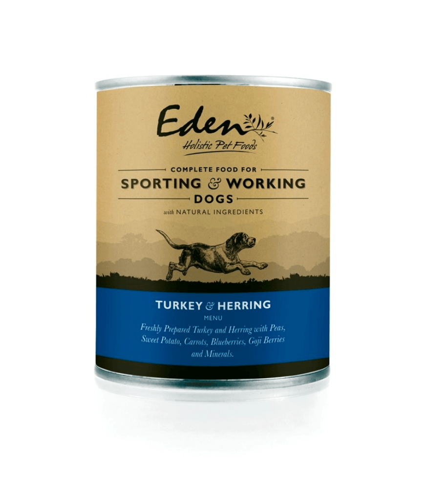 Eden Wet Food for Working and Sporting Dogs: Turkey and Herring Dog Food - Wet Eden