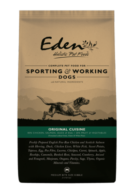 Eden Working Dog Original Cuisine 15kg Dog Food - Dry Eden