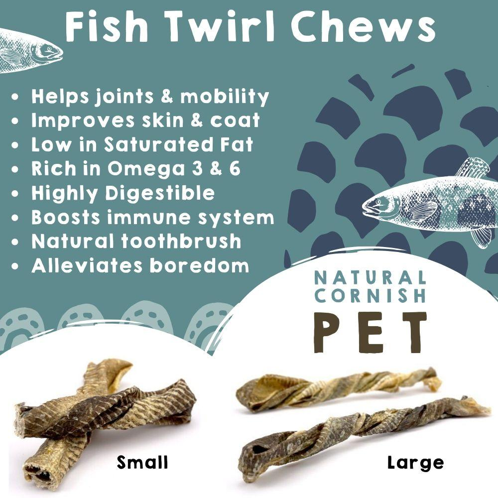 Fish Twirl Chew Dog Treats Natural Cornish Pet