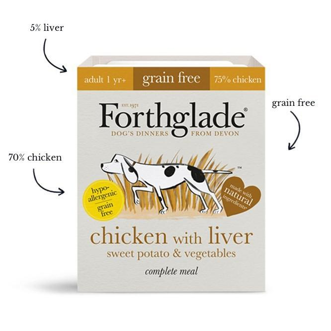 Forthglade Chicken With Liver, Sweet Potato & Vegetables Dog Food - Wet Forthglade