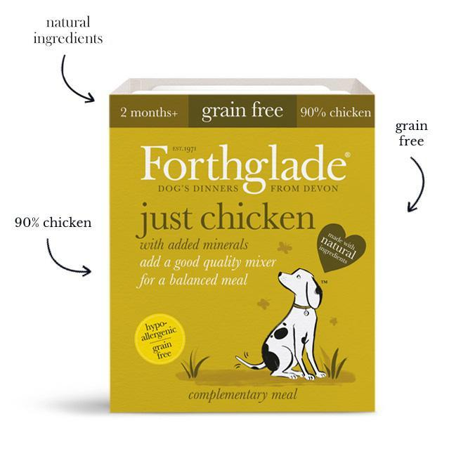 Forthglade Just 90% Just Chicken Dog Food - Wet Forthglade