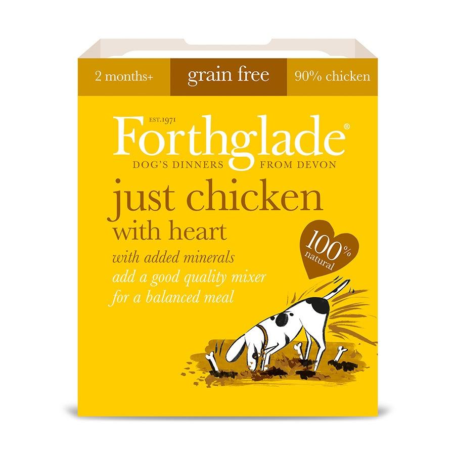 Forthglade Just 90% Just Chicken with heart Dog Food - Wet Forthglade
