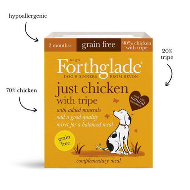 Forthglade Just 90% Just Chicken with Tripe Dog Food - Wet Forthglade