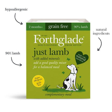 Forthglade Just 90% Just Lamb Dog Food - Wet Forthglade