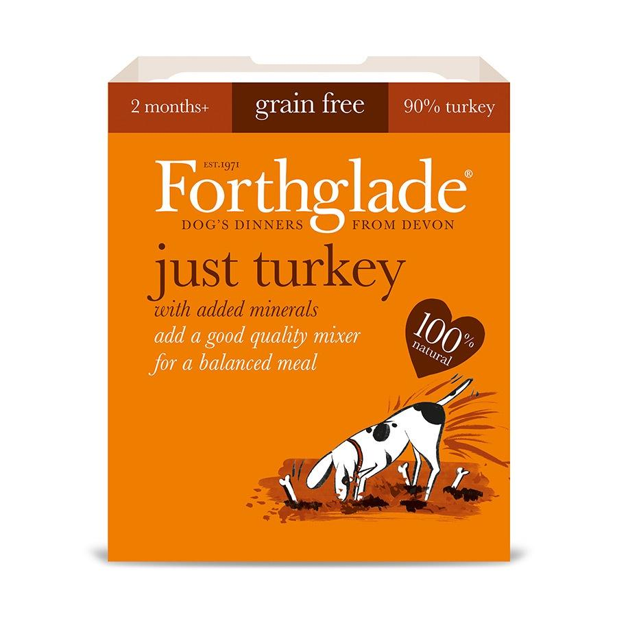 Forthglade Just 90% Just Turkey Dog Food - Wet Forthglade