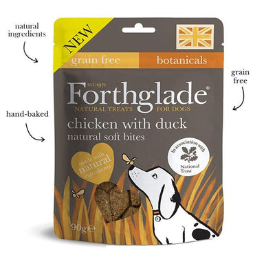 Forthglade National Trust soft bite treats with Chicken and Duck Dog Treats Forthglade