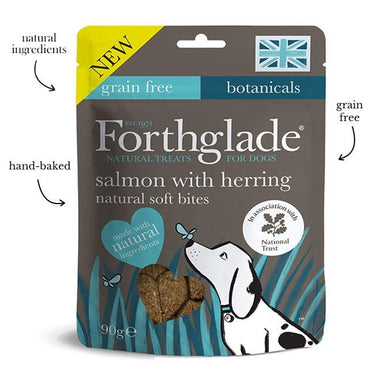 Forthglade National Trust soft bite treats with Salmon and Herring Dog Treats Forthglade