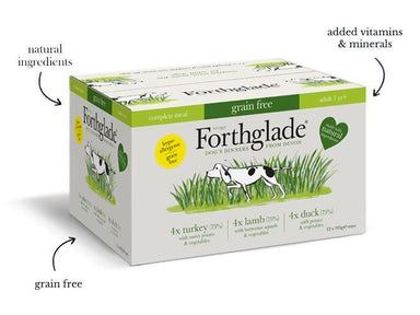 Forthglade Turkey, Duck & Lamb Grain Free Multicase Adult Dog Food - Wet Forthglade