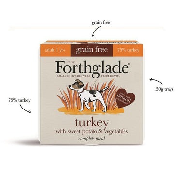 Forthglade Turkey & Duck Small Dog Variety Pack - 150g Dog Food - Wet Forthglade