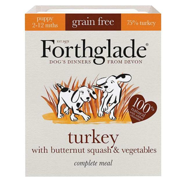 Forthglade Turkey with Butternut Squash & Vegetables Puppy Dog Food - Wet Forthglade