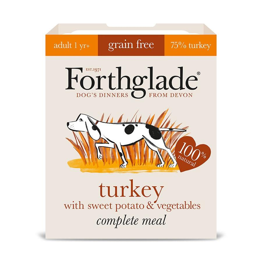Forthglade Turkey with Sweet Potato and Vegetables Adult Dog Food - Wet Forthglade