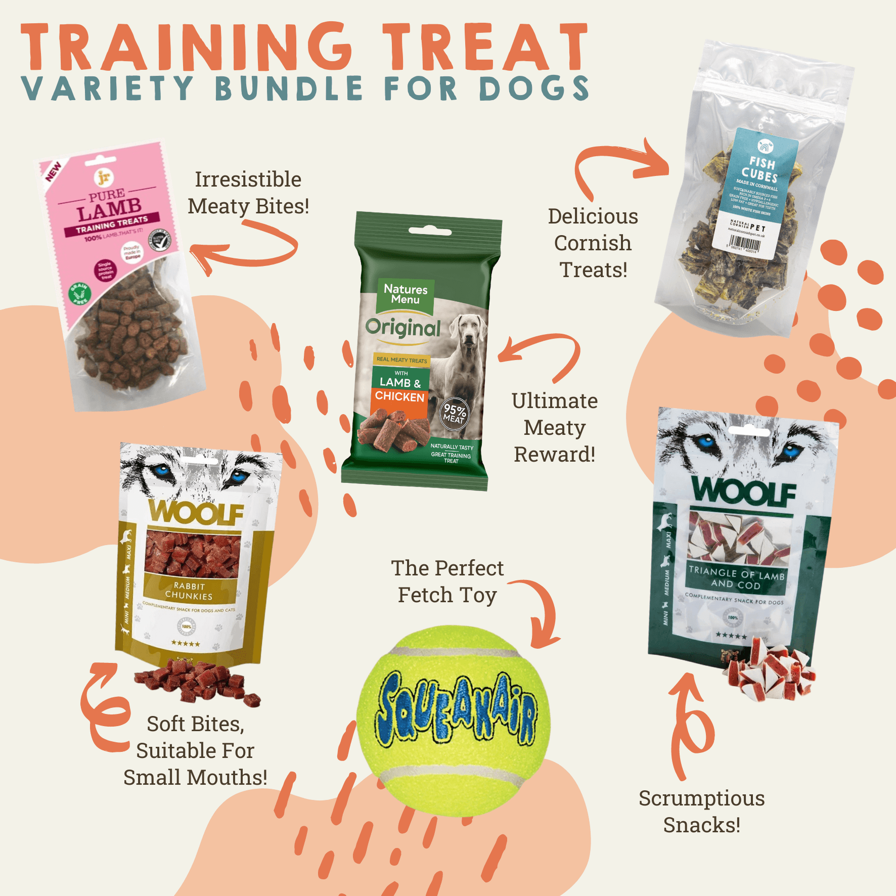 Grain Free Variety Training Treats Bundle for Dogs Dog Treats Natural Cornish Pet Shop