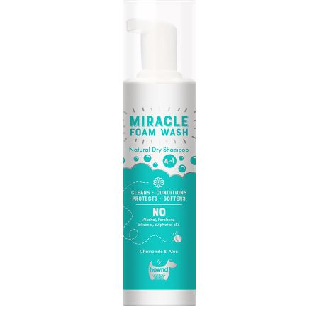Hownd Miracle Natural Dry Foam Wash Dog Grooming Hownd