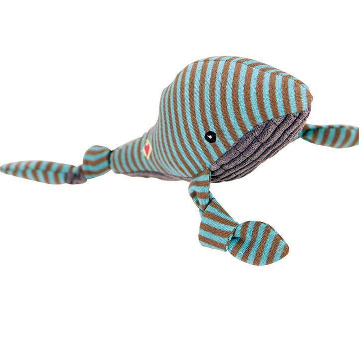 HuggleHounds Seaside Knotties - Whale Dog Toys HuggleHounds