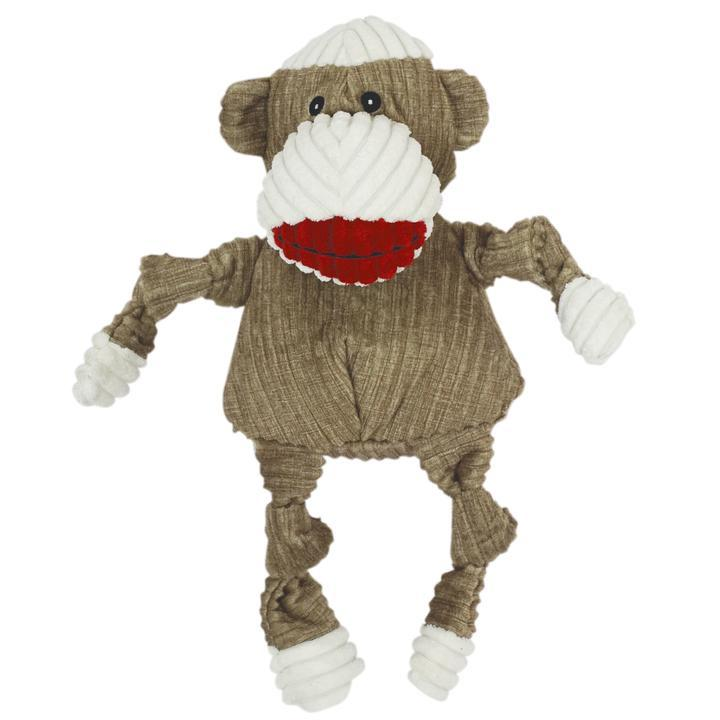 HuggleHounds Sock Monkey Dog Toys HuggleHounds