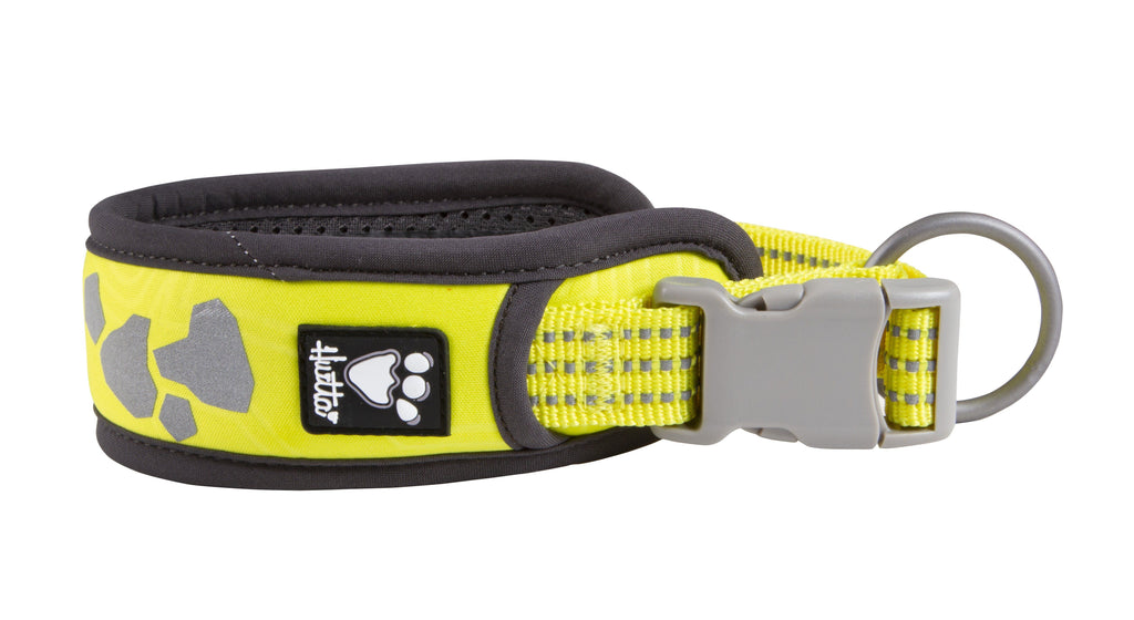 Hurtta Weekend Warrior Collar Neon Lemon Dog Collars and Leads Hurtta