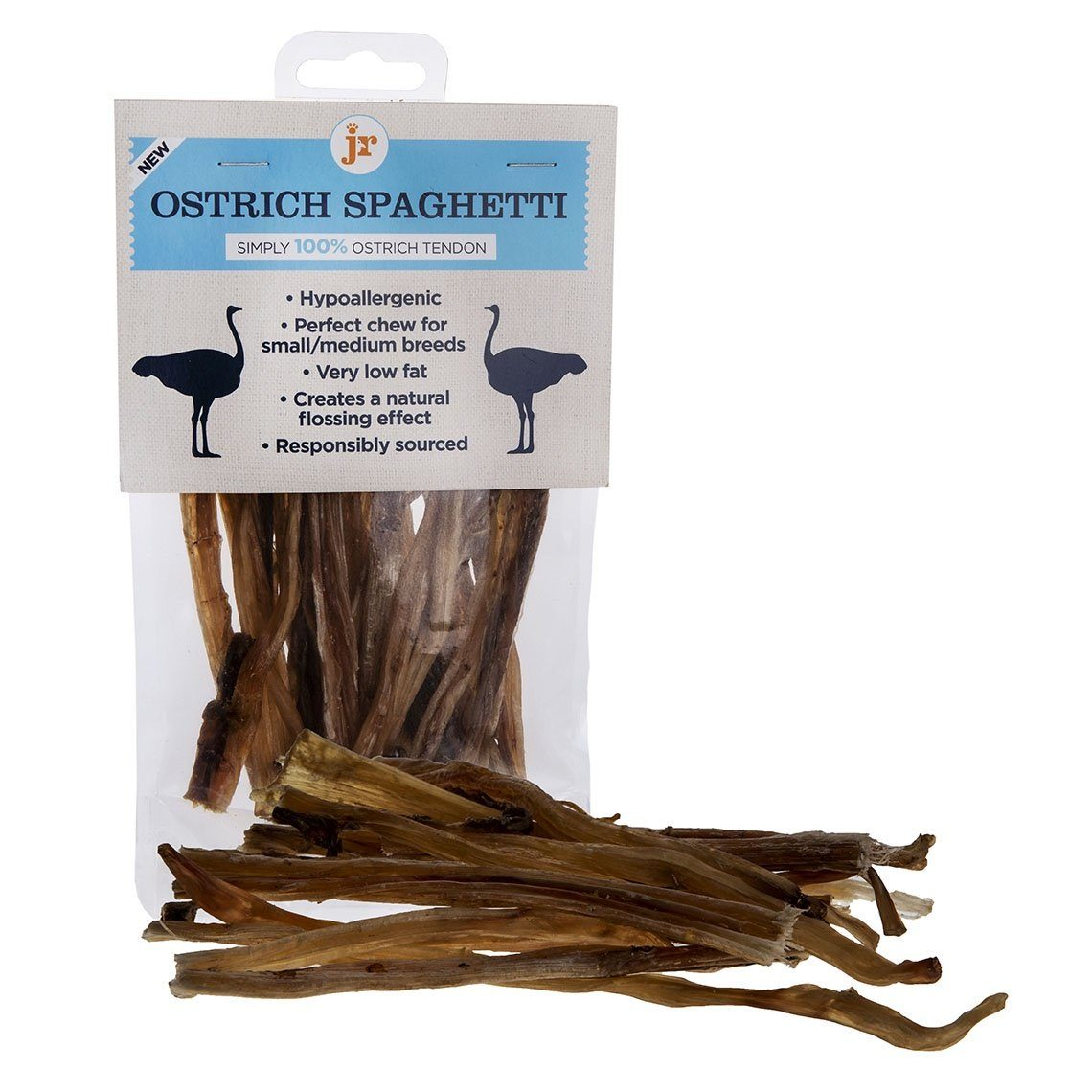 Jr Ostrich Spaghetti Dog Treats JR Pet Products