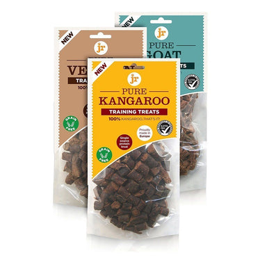 Jr Pure Training Treats Variety Pack Kangaroo, Venison & Goat Dog Treats JR Pet Products