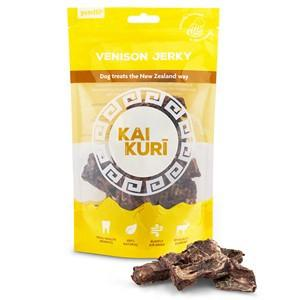 Kai Kuri Air-Dried Venison Jerky Mix 85g Dog Treats Pedigree Wholesale