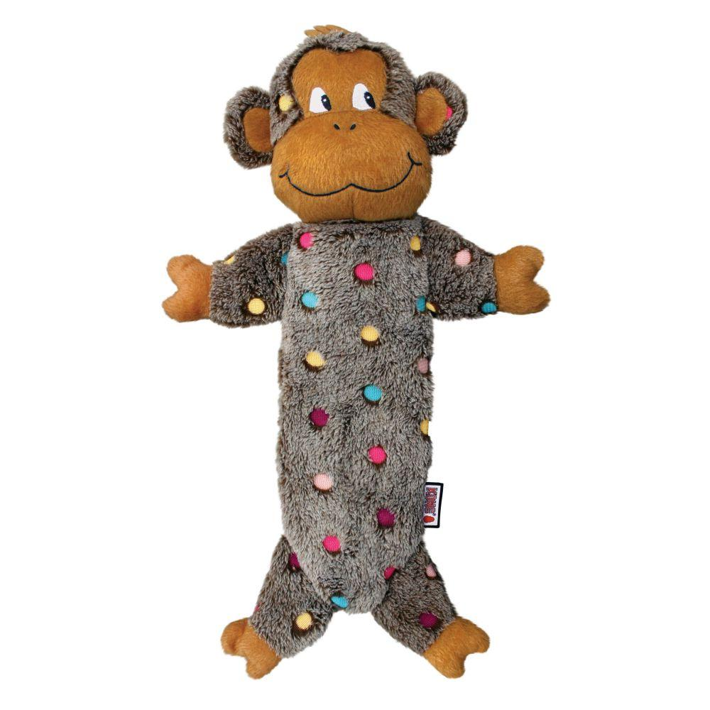 KONG Low Stuff Speckles Monkey Dog Toys KONG